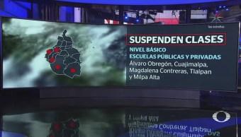 Por Clima Gélido, Suspenden Clases Cinco Delegaciones Cdmx