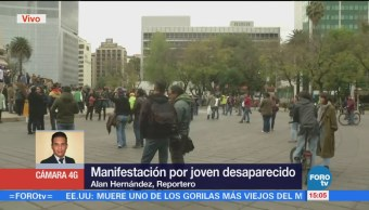 Protestan Joven Desaparecido Ángel Independencia