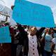 Protestas contra Trump en Puerto Príncipe, Haití. (AP)