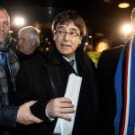 Puigdemont a su llegada a Copenhague. (EFE)