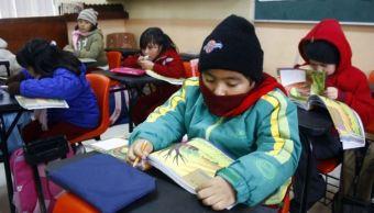 Este jueves reanudan clases en las cinco delegaciones afectadas por frío