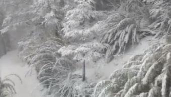 Remanentes del frente frío 24 provocan nevada en Tancítaro