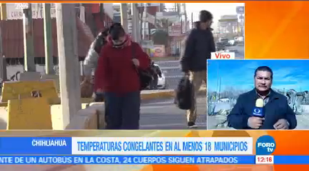 Reportan 18 Municipios Temperaturas Bajo Cero Chihuahua