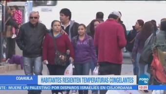 Reportan temperaturas de hasta 4 grados bajo cero en Coahuila