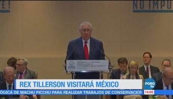 Rex Tillerson Visitará México Febrero