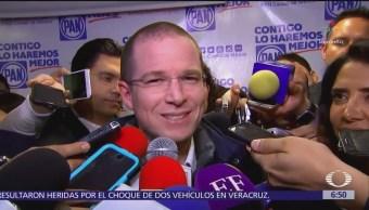 Ricardo Anaya dice que respeta y aprecia a Gabriela Cuevas