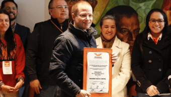 Ricardo Anaya se registra como precandidato a la Presidencia por Movimiento Ciudadano