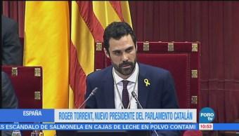 Roger Torrent, nuevo presidente del Parlamento catalán