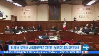 Scjn Entrada Controversia Constitucional Contra Ley Seguridad Interior