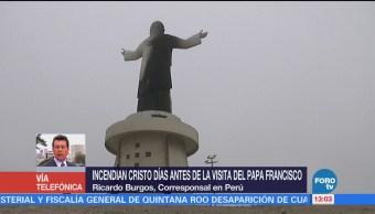 Incendia Cristo Monumental Perú