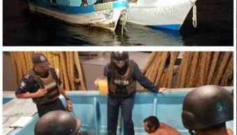 marina rescata en acapulco, guerrero, a pescadores desaparecidos en oaxaca
