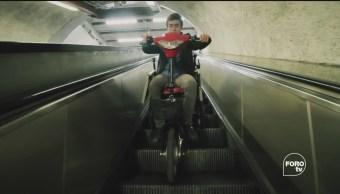 Silla de ruedas para escaleras eléctrica