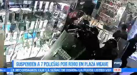 Suspenden Siete Policías Capitalinos Robo Celulares Plaza Meave