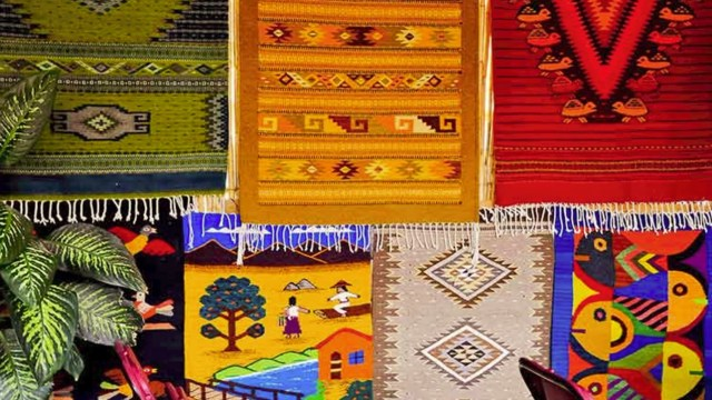 realizan feria tapete teotitlan valle oaxaca