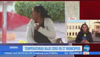 Temperaturas Bajo Cero Municipios Sonora Frente Frío