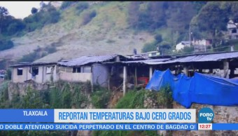 Tlaxcala registra temperaturas bajo cero, con mañanas heladas