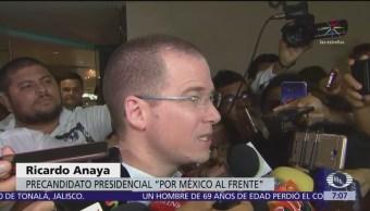 Tras renuncia de Osorio Chong, Anaya pide orden para la transición