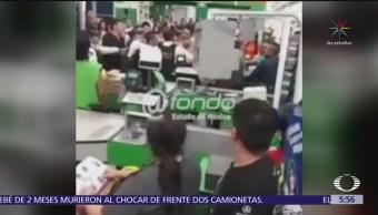 Trifulca por detener a ladrones en tienda de Ecatepec