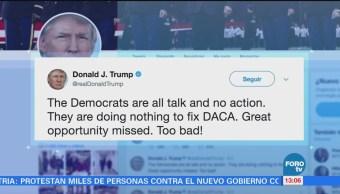 Trump Arremete Contra Demócratas Programa Daca