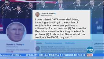 Trump Dice Ofreció Trato Maravilloso Daca