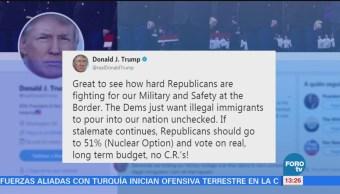Trump elogia a republicanos y arremete contra demócratas