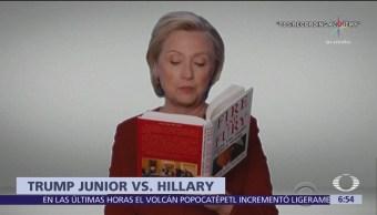 Trump Jr. arremete contra Hillary por leer 'Fuego y Furia' en premios Grammy