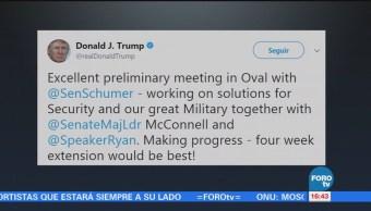 Trump Negocia Demócratas Evitar Cierre Gobierno