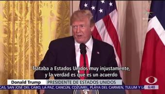 Trump señala que EU podría retomar el acuerdo contra el cambio climático