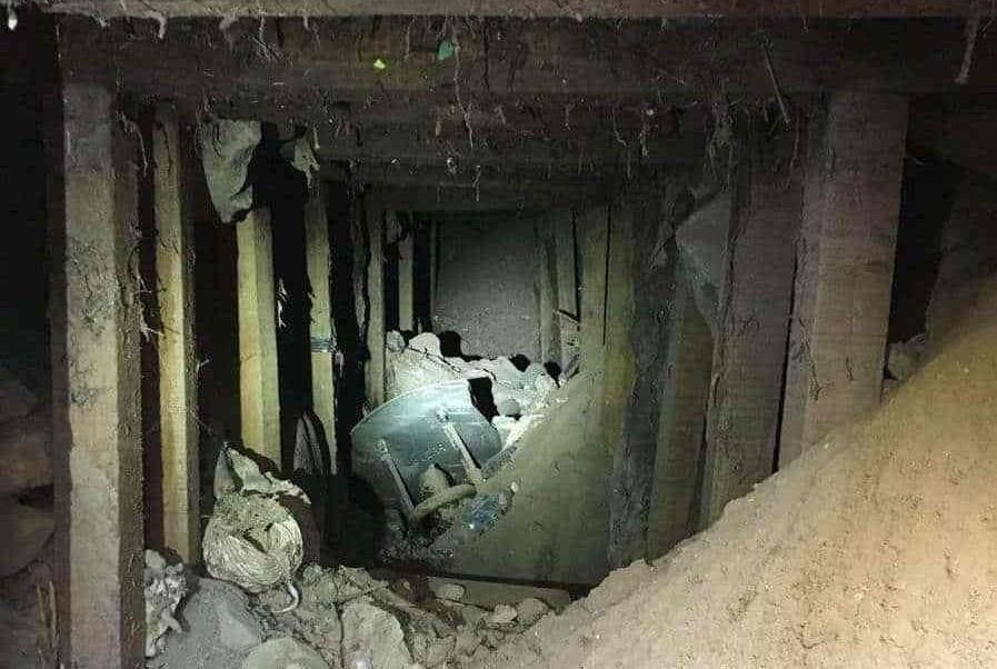 descubren tunel inconcluso en frontera entre texas y chihuahua