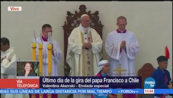 Último día de visita del papa Francisco a Chile