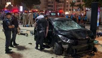 Atropellamiento Río Janeiro deja bebé muerto y 17 heridos