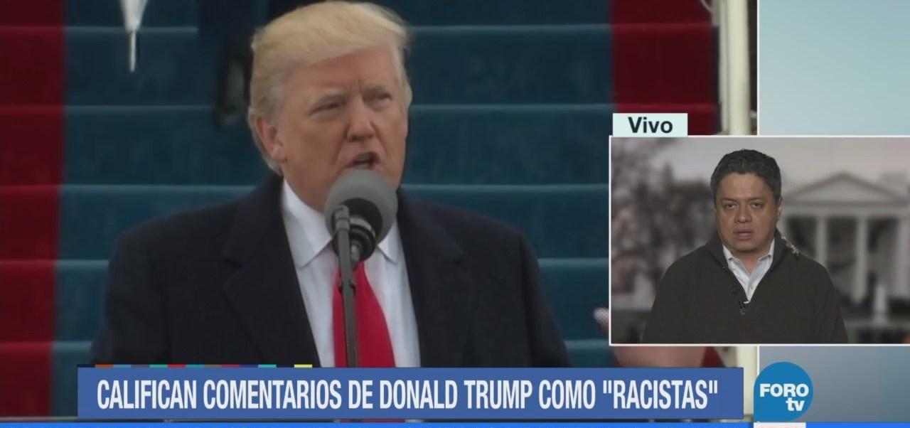 Donald trump niega declaraciones racistas sobre inmigrantes