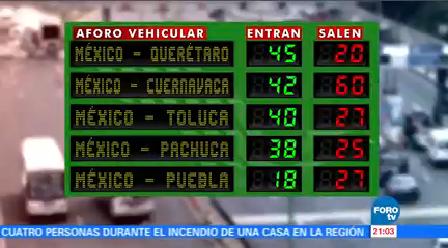 Vacacionistas Regresan Cdmx Diversas Autopistas Ciudad De México