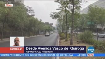 Vecinos exigen seguridad en avenida Vasco de Quiroga, CDMX