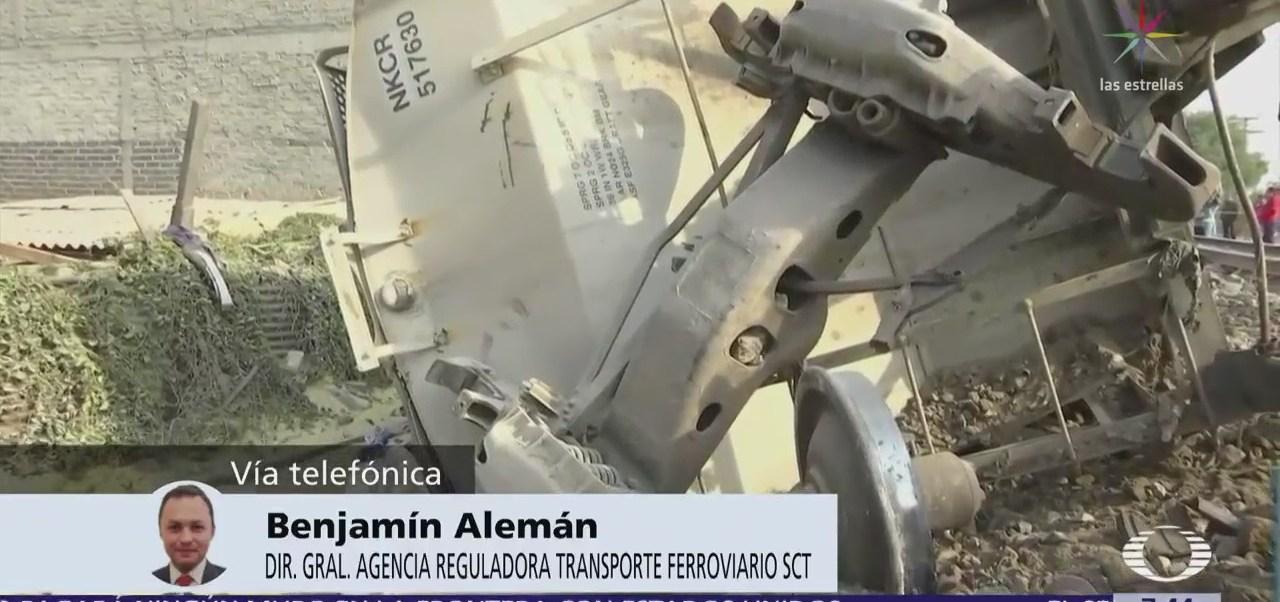 Vías de tren en Ecatepec recibieron mantenimiento en octubre, según ARTF