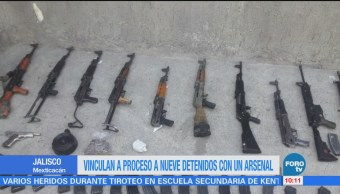 Vinculan a proceso a célula criminal por posesión de armamento en Jalisco