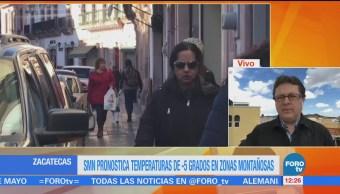 Zacatecas Registra Temperaturas Menos 5 Grados Frente Frío
