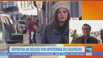 Zacatecas registra un muerto por hipotermia debido a intenso frío