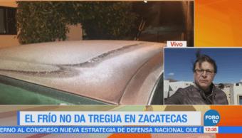 Persisten las bajas temperaturas en Zacatecas