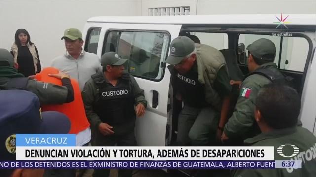 20 expolicías de Veracruz, detenidos por desaparición forzada y abuso sexual