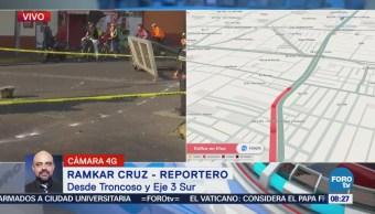 Al menos un muerto deja accidente automovilístico en Troncoso y Eje 3 Sur