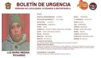 Reportan desaparición de la tía de la niña 'Calcetitas Rojas'