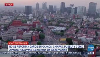 Alfonso Navarrete Prida, Secretario Gobernación, Informó Presidente Enrique Peña Nieto