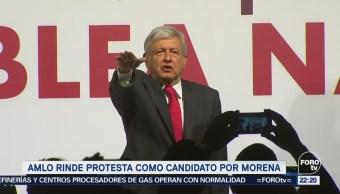 Amlo Toma Protesta Como Candidato Presidencial Morena