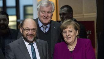merkel schulz alcanzan acuerdo gobierno alemania medios