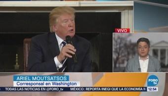 Ante grupos conservadores, Trump reitera que construirá el muro