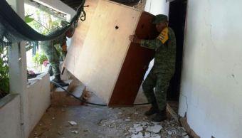 Ejército mexicano aplica Plan DN-III-E tras sismo en Pinotepa Nacional, Oaxaca