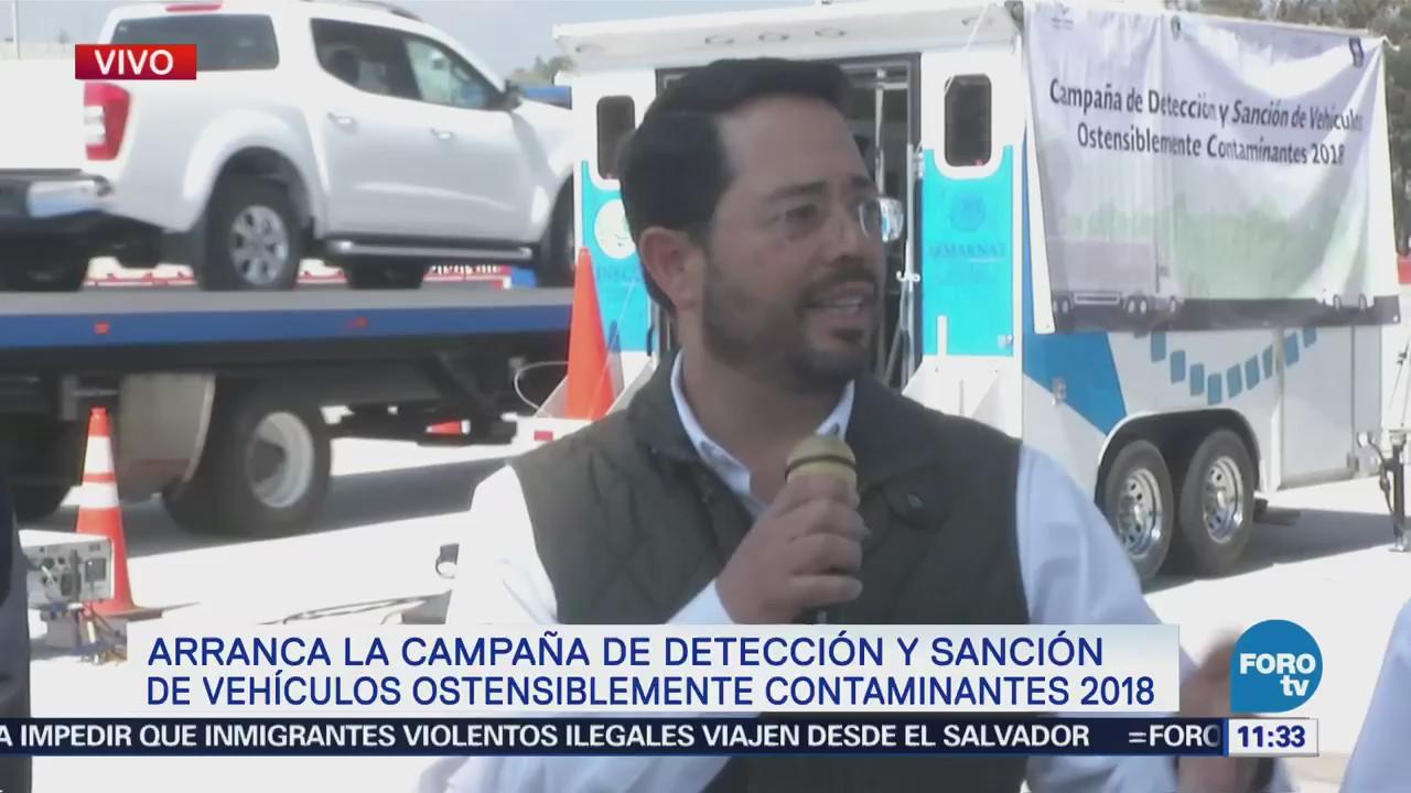 Arranca campaña de detección de vehículos contaminantes 2018 en Megalópolis