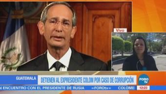 Arrestan a expresidente guatemalteco Álvaro Colom