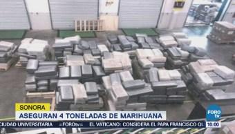 Ejército mexicano asegura 4 toneladas de marihuana en Nogales, Sonora